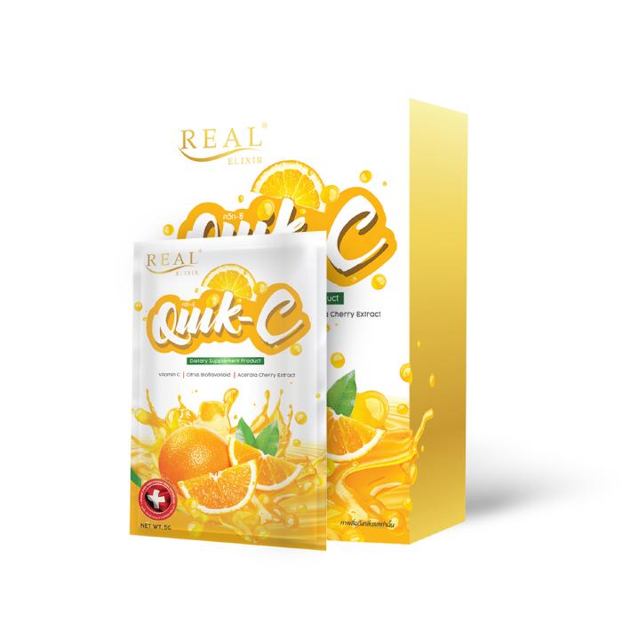 วิตามินซี ชนิดผงละลายน้ำ ควิก-ซี (Real Elixir Quik - C)