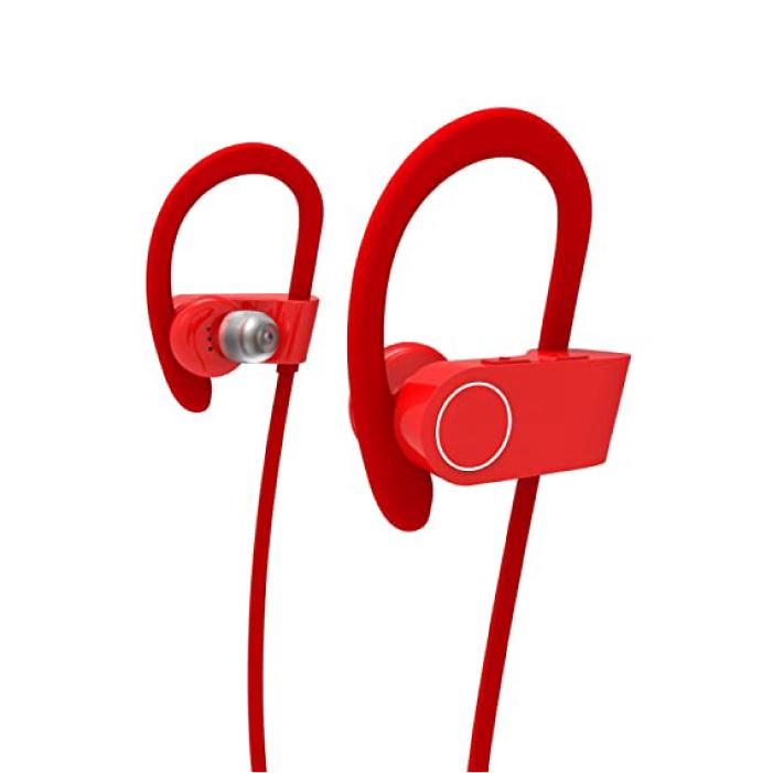 ASTON หูฟังออกกำลังกาย หูฟังไร้สาย ออกกําลังกาย (สีแดง)