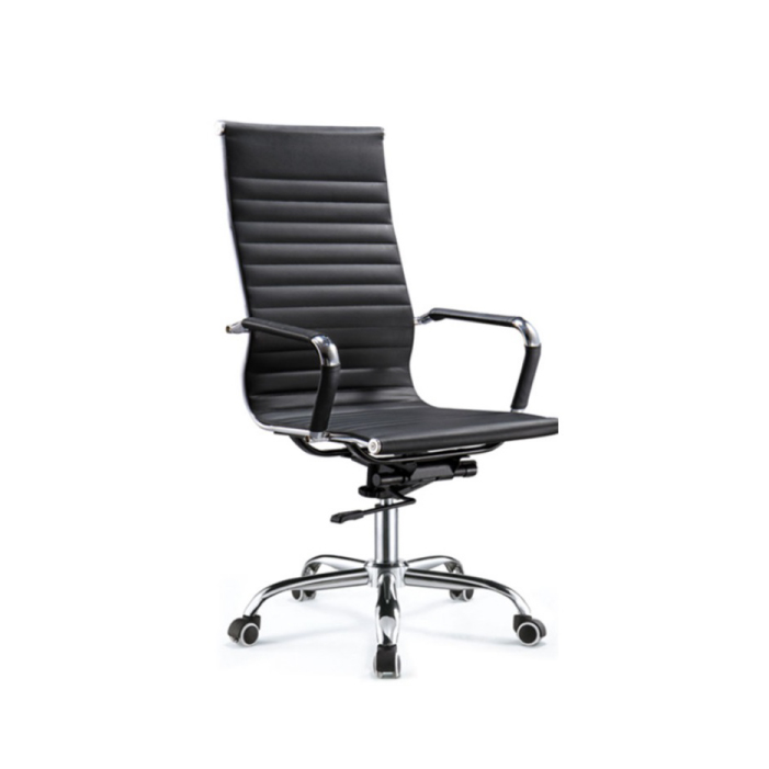 TS Modern Living เก้าอี้สำนักงาน ทรงสูง มีล้อลาก ปรับระดับได้ รุ่น CH0004BK
