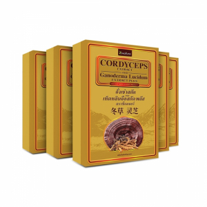 Cordycep ถั่งเช่าสกัด ผสม เห็ดหลินจือสกัด (ซีเนเจอร์) 5 กล่อง