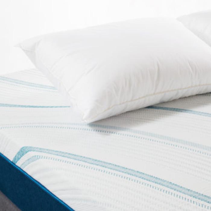 ผ้าปูที่นอน Sleep Happy ผ้าปูที่นอนรัดมุม 4 มุม ผ้าปูที่นอน 5 ฟุต (คอตตอน 100% 600 เส้นด้าย) (สีฟ้า)