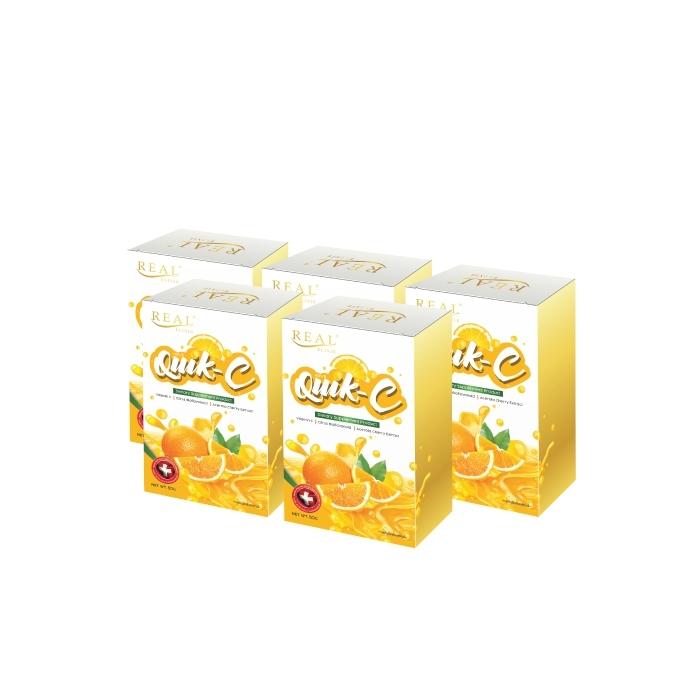 ผลิตภัณฑ์เสริมอาหาร ควิก-ซี (Real Elixir Quik - C) วิตามิน ซี ชนิดผงละลายน้ำ