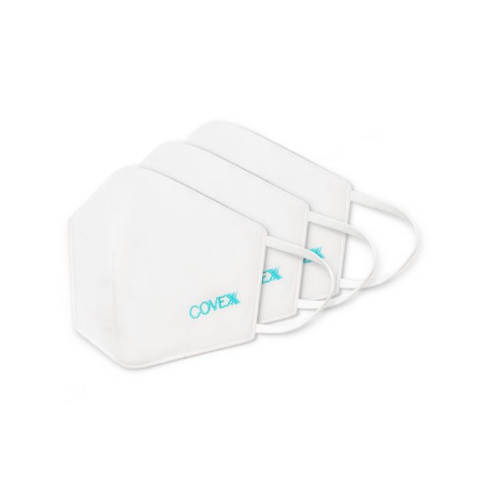 Covex Protective Mask หน้ากากอนามัย หน้ากากผ้ากันน้ำ ป้องกันฝุ่น (สีขาว)