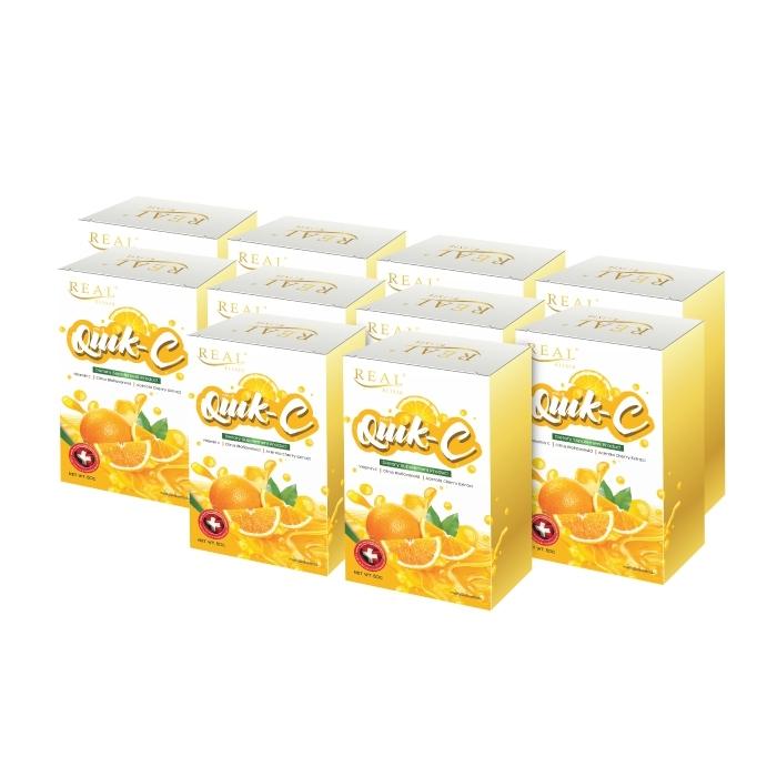 Real Elixir Quik - C (ผลิตภัณฑ์เสริมอาหาร ควิก-ซี) วิตามินซี ชนิดผงละลายน้ำ