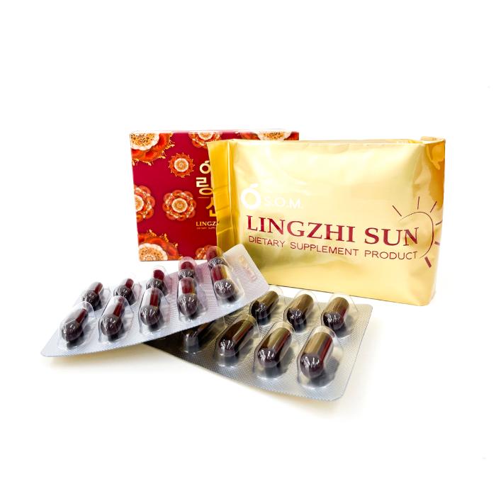 เอสโอเอ็ม หลินจือ ซัน (S.O.M. LINGZHI SUN) (กล่องเล็ก 30 แคปซูล)