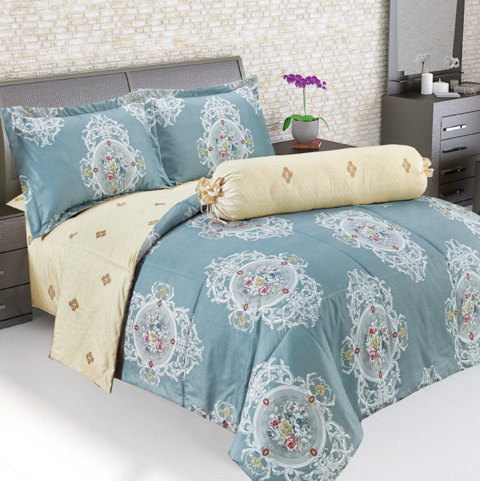 BONITA (โบนิต้า) ผ้าปูที่นอน ชุดผ้าปูที่นอน พร้อมผ้านวม รุ่น Royal Mosa (ขนาด 6 ฟุต)