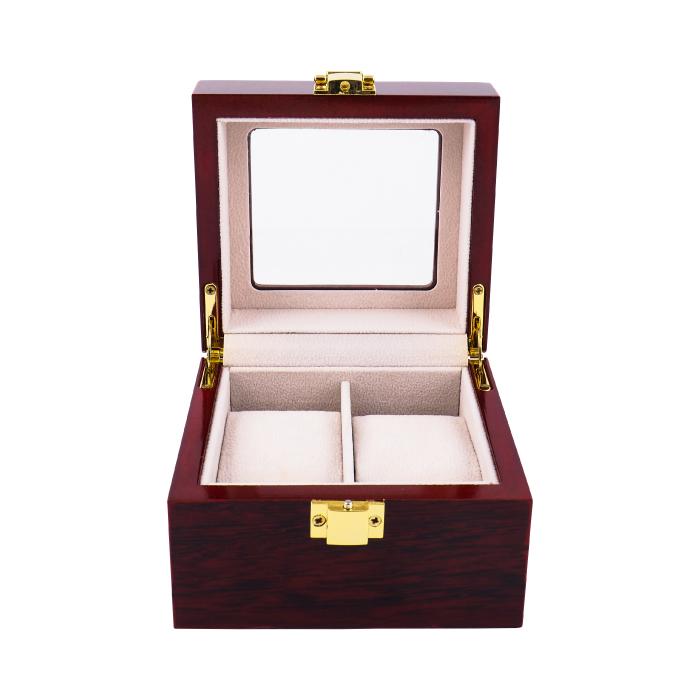 FANCYBOX กล่องใส่นาฬิกา สำหรับนาฬิกา 2 เรือน รุ่น LUXURY (สีโอ๊ค)