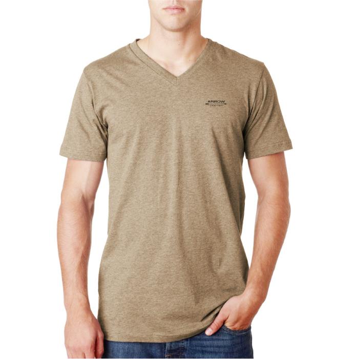Arrow เสื้อยืด เสื้อยืดผู้ชาย เสื้อยืดสีพื้น เสื้อคอวี ผ้านิ่ม ใส่สบาย
