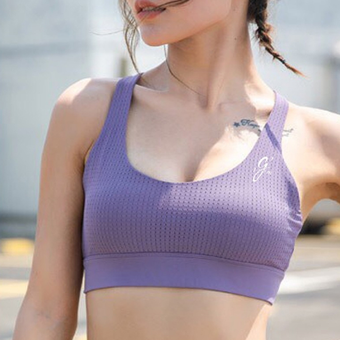 G-item Airy Sport Bra สปอร์ตบรา เสื้อออกกำลังกาย ชุดออกกำลังกาย ผู้หญิง (สีม่วง)