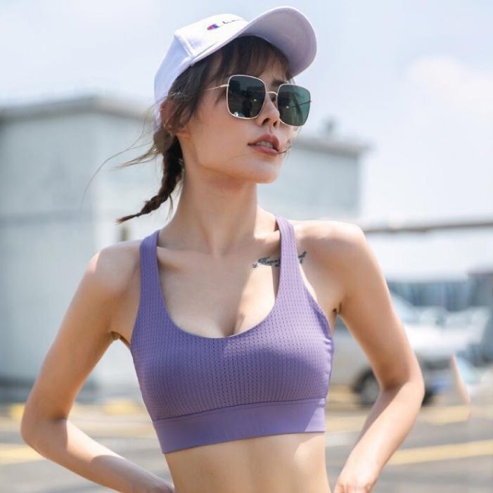 G-item Airy Sport Bra สปอร์ตบรา เสื้อออกกำลังกาย ชุดออกกำลังกาย ผู้หญิง (สีชมพู และ สีม่วง)