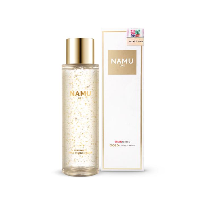 น้ำตบ สเนลไวท์ NAMU LIFE SNAILWHITE GOLD ESSENCE WATER (น้ำตบผสมทองคำ24K)
