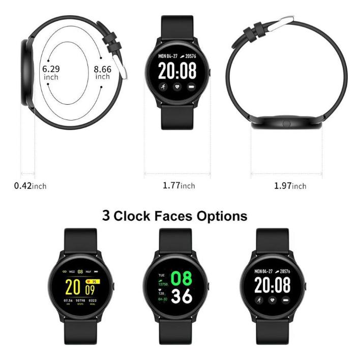 ASTON SMART WATCH นาฬิกาสมาร์ทวอทช์ เพื่อสุขภาพ รุ่น KW19