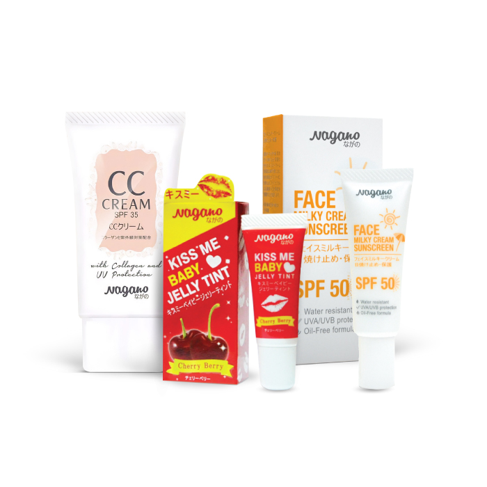 Nagano Set CC Cream With Collagen and SPF 35 UV Protection