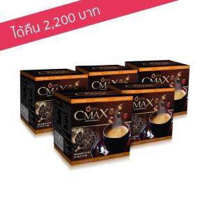 เอส.โอ.เอ็ม. ซีแมคซ์ กาแฟชงดื่มเพื่อสุขภาพ สารสกัดจากถั่งเช่าและโสมเกาหลี 5 กล่อง