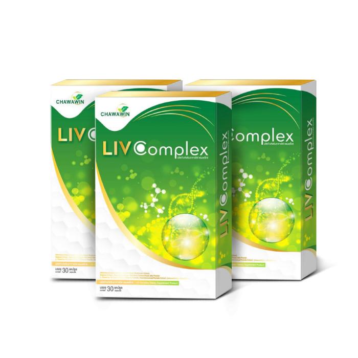 LIV Complex (ลีฟ คอมเพล็กซ์) ผลิตภัณฑ์เสริมอาหาร บำรุงตับ ขับสารพิษ และบำรุงสุขภาพ